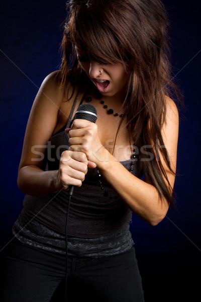 Girl Singer Stock photo © keeweeboy