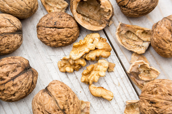 Fresh Raw Walnuts Stock photo © keeweeboy
