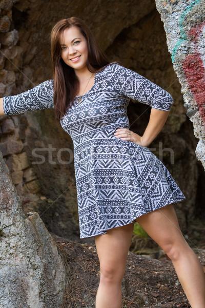 Beautiful Fashion Model Woman Stock photo © keeweeboy