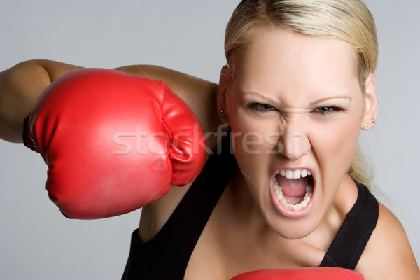 Boxing Woman Stock photo © keeweeboy