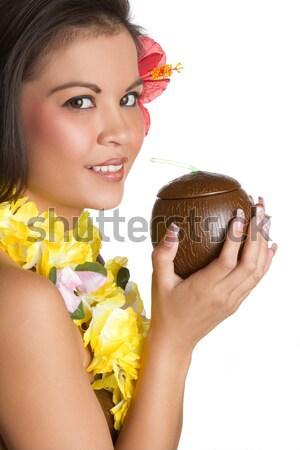 Hawaiian Tropical Girl Stock photo © keeweeboy