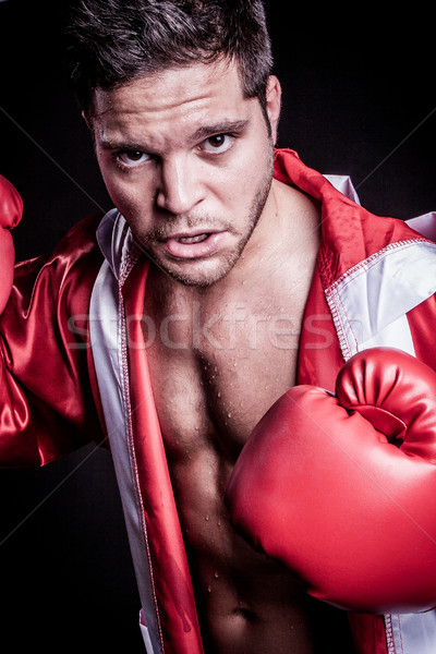 Boxing Fighter Man Stock photo © keeweeboy
