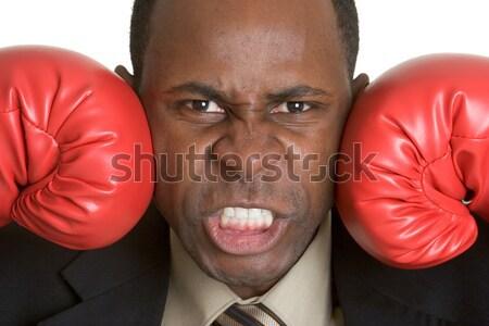 Boxe homme transpiration sueur vers le bas caleçon Photo stock © keeweeboy