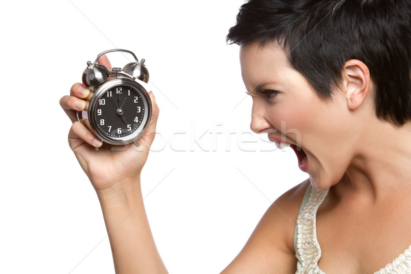 Stock photo: Alarm Clock Woman