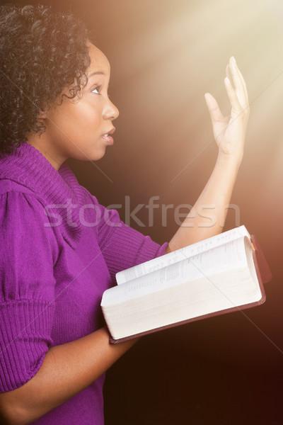 Woman Worshipping God Stock photo © keeweeboy