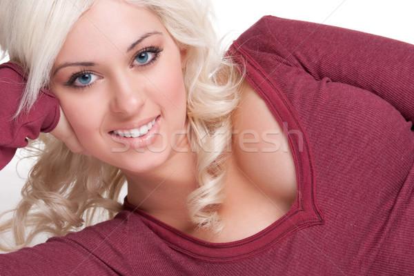 Bella donna sorridere giovani ragazza Foto d'archivio © keeweeboy
