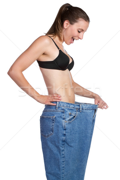 Weight Loss Girl Stock photo © keeweeboy