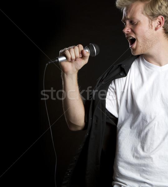 Singing Man Stock photo © keeweeboy