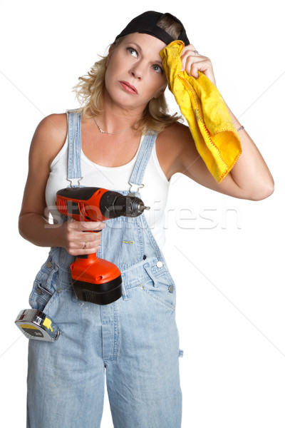 Handyman Woman Stock photo © keeweeboy
