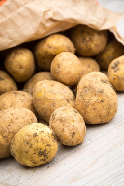 Potatoes in Paper Bag Stock photo © keeweeboy