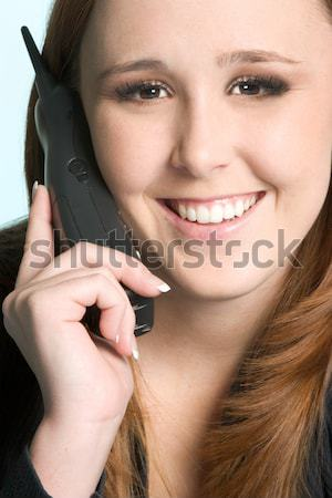 Cell Phone Woman Stock photo © keeweeboy