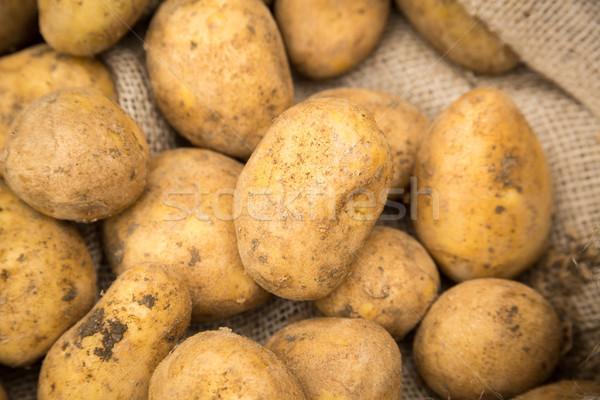 Raw White Potatoes Stock photo © keeweeboy
