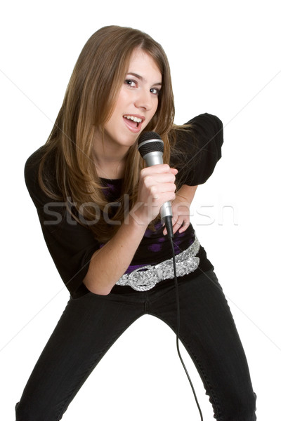 Teen Girl Sining Stock photo © keeweeboy