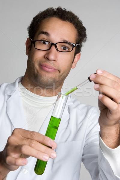 Crazy Scientist Man Stock photo © keeweeboy
