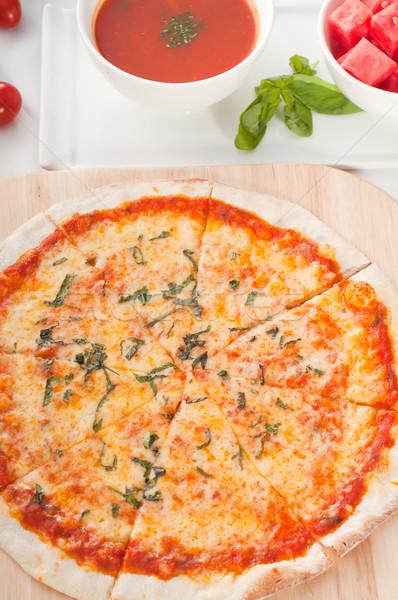 Photo stock: Italien · originale · léger · pizza · soupe · pastèque