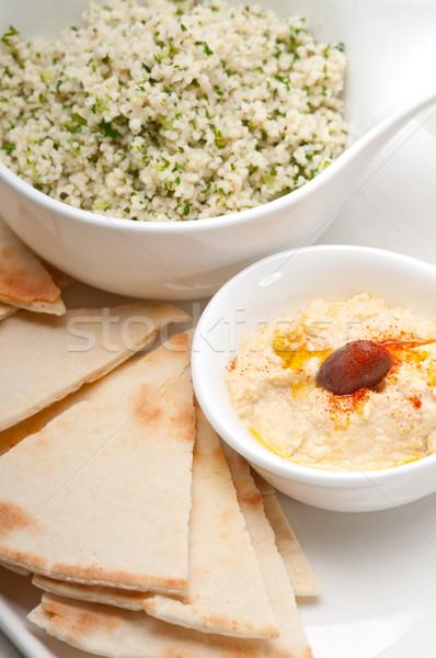 taboulii couscous with hummus Stock photo © keko64