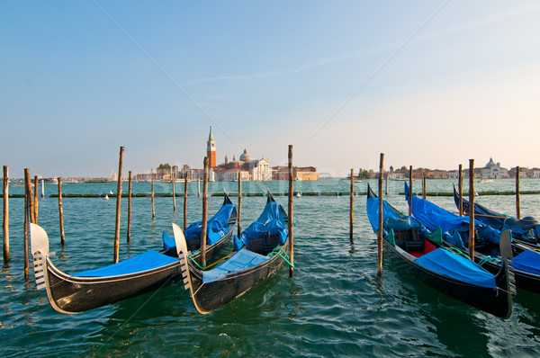 Venice Italy Gondolas on canal  Stock photo © keko64