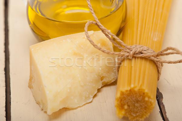 итальянский пасты фундаментальный продовольствие Ингредиенты сыр пармезан Сток-фото © keko64