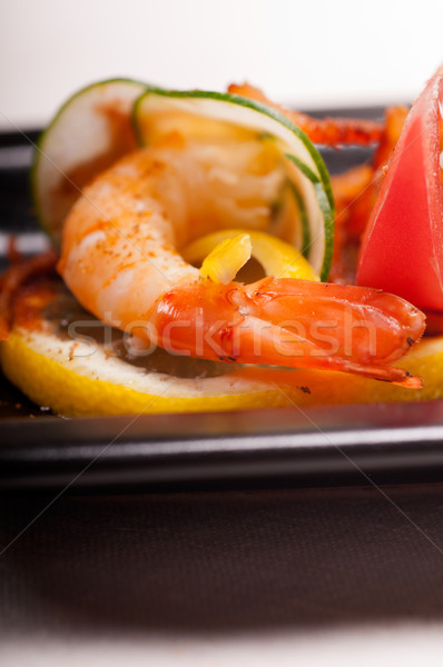 Colorido gamba aperitivo frescos hortalizas Foto stock © keko64