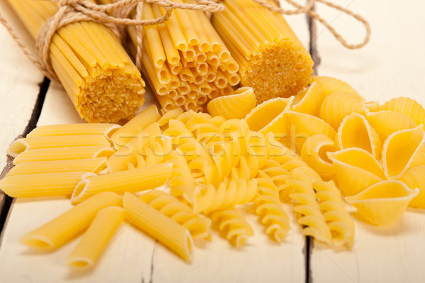 Italiano pasta tipo blanco rústico Foto stock © keko64