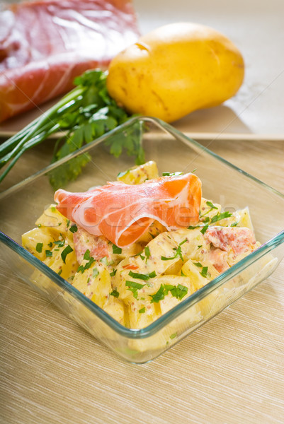 parma ham and potato salad Stock photo © keko64