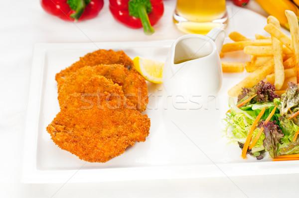 Klasszikus borjúhús zöldségek sültkrumpli több finom Stock fotó © keko64