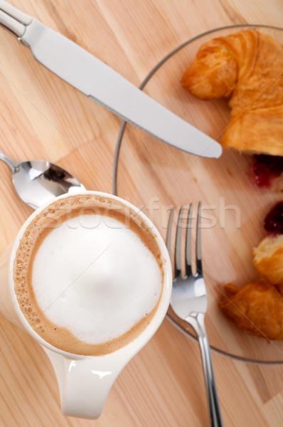 Vers croissant frans koffie typisch traditioneel Stockfoto © keko64