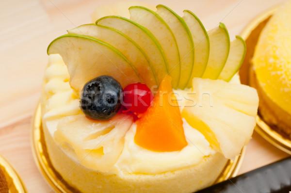 Vers bessen cake room gebak Stockfoto © keko64