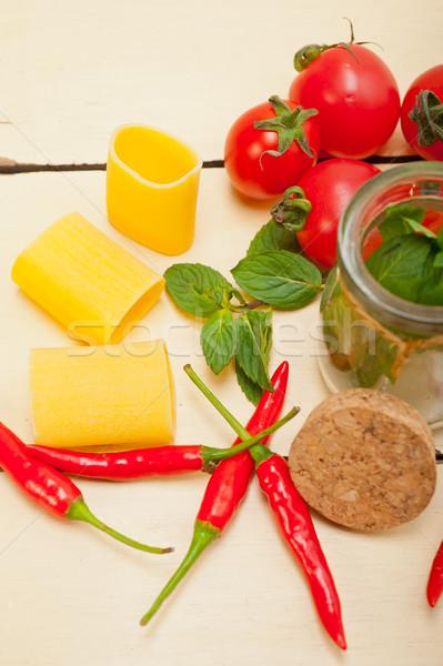 Italiana pasta pomodoro menta peperoncino ingredienti Foto d'archivio © keko64