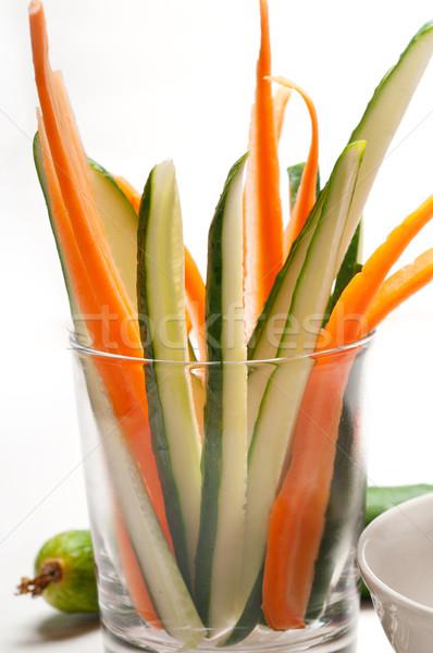 свежие закуска сырой морковь огурца Сток-фото © keko64