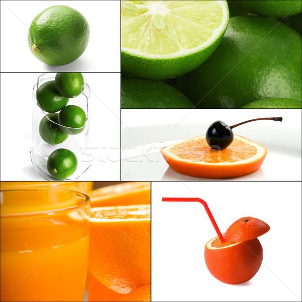 citrus fruits collage Stock photo © keko64