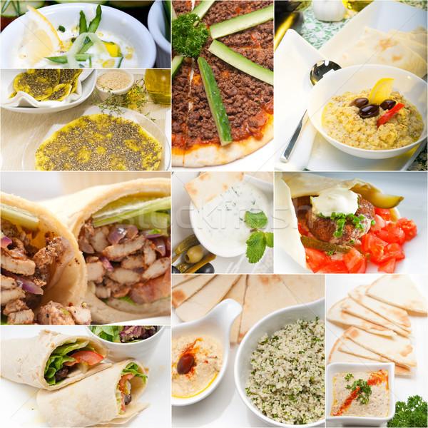 アラブ 中東 食品 コラージュ コレクション 白 ストックフォト © keko64