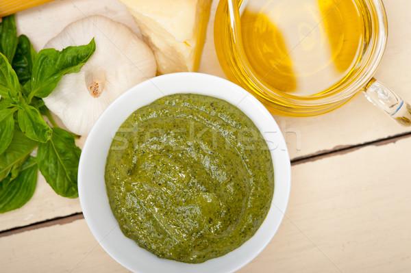 Сток-фото: итальянский · базилик · соус · Ингредиенты · традиционный