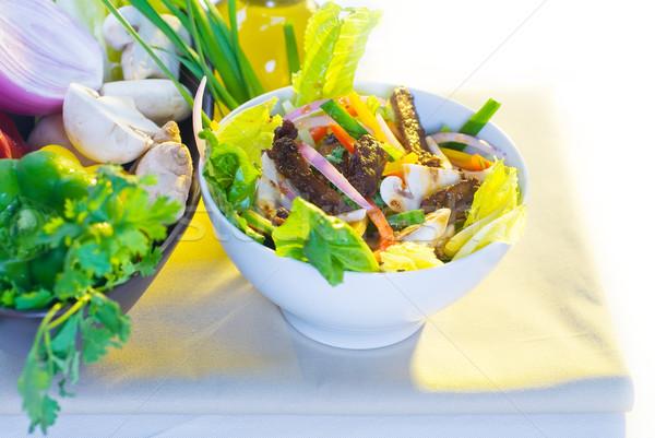 Taylandlı salata taze sığır eti salata tabağı Stok fotoğraf © keko64