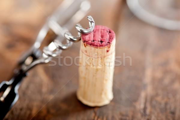дегустация макроса древесины ресторан Сток-фото © keko64