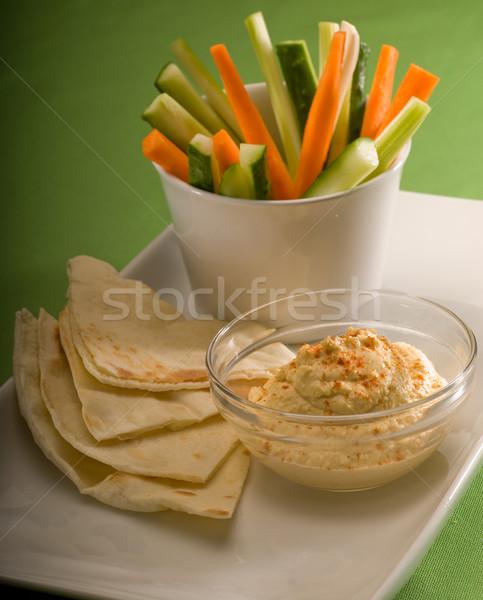 Pita chleba warzyw szkła Zdjęcia stock © keko64