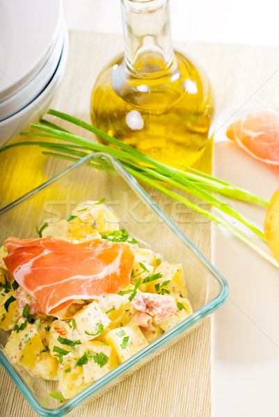 parma ham and potato salad Stock photo © keko64