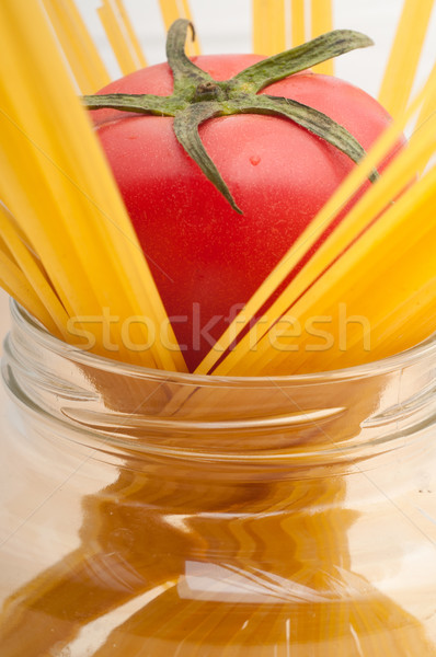 fresh tomato and spaghetti pasta Stock photo © keko64