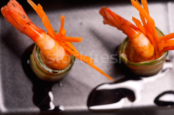 colorful  prawn shrimps appetizer snack Stock photo © keko64