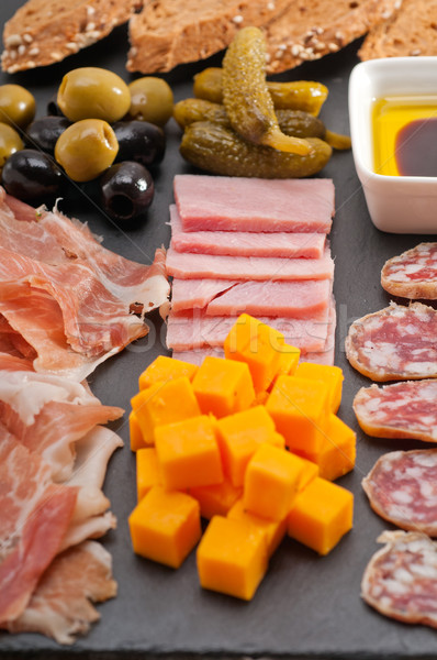 assorted cold cut platter Stock photo © keko64