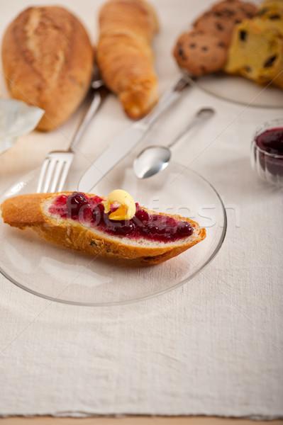 Zdjęcia stock: Chleba · masło · jam · klasyczny · europejski · śniadanie