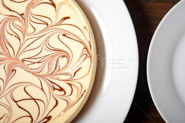 Tarta de queso frescos clásico chocolate alimentos Foto stock © keko64