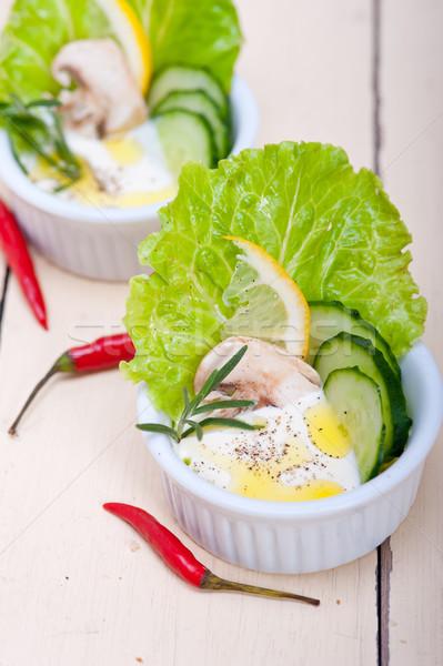 新鮮な ニンニク チーズ ディップ サラダ オーガニック ストックフォト © keko64