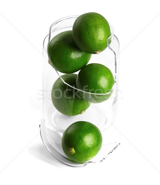 broken jar and lime  Stock photo © keko64