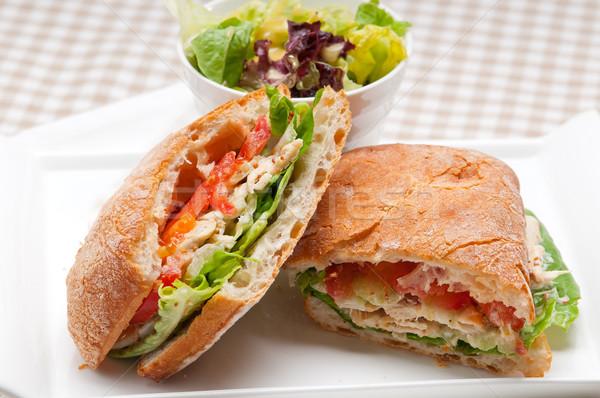 Panini sandwich poulet tomate italien alimentaire Photo stock © keko64