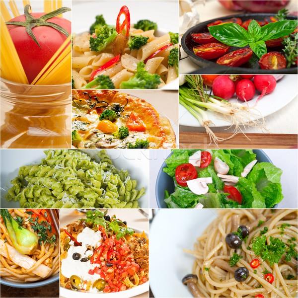 Sani vegetariano vegan alimentare collage bianco Foto d'archivio © keko64