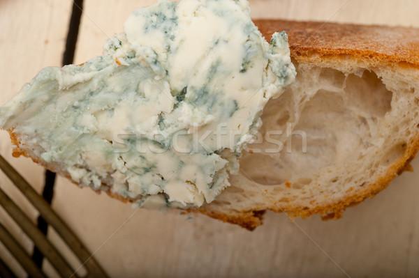 Stockfoto: Vers · schimmelkaas · frans · baguette · kerstomaatjes · kant