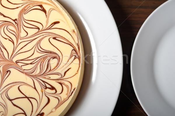 Sernik świeże klasyczny czekolady żywności Zdjęcia stock © keko64