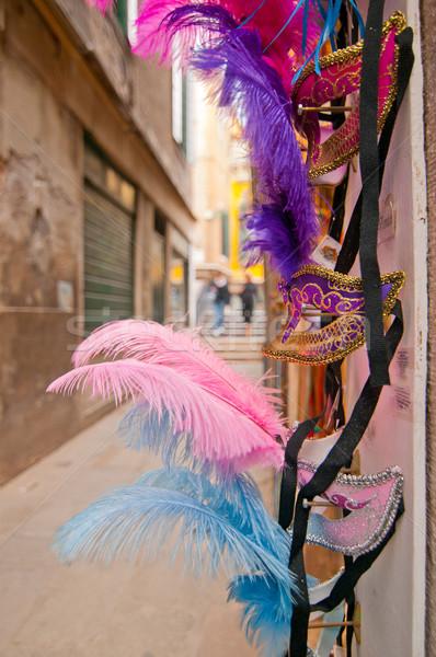 Velence Olaszország szuvenír bolt karnevál maszkok Stock fotó © keko64