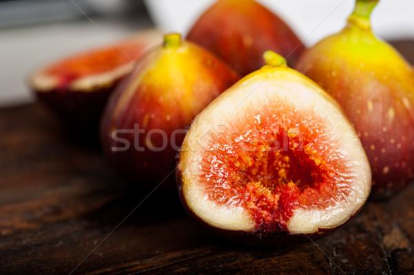 Vers oud hout macro voedsel vruchten Stockfoto © keko64